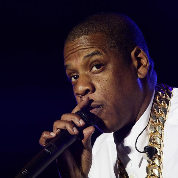 Jay Z performs at the Yahoo! Wireless Festival at the Olympic Park in east London