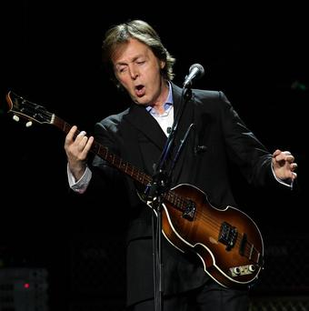 Sir Paul McCartney told the crowd he was in the middle of a 'Nirvana reunion'
