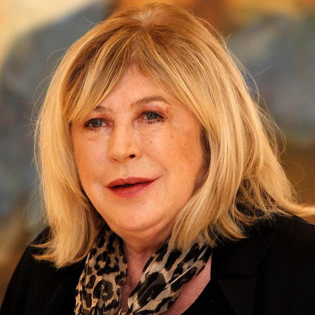 Marianne Faithful is recovering after breaking a bone in her back in an accident