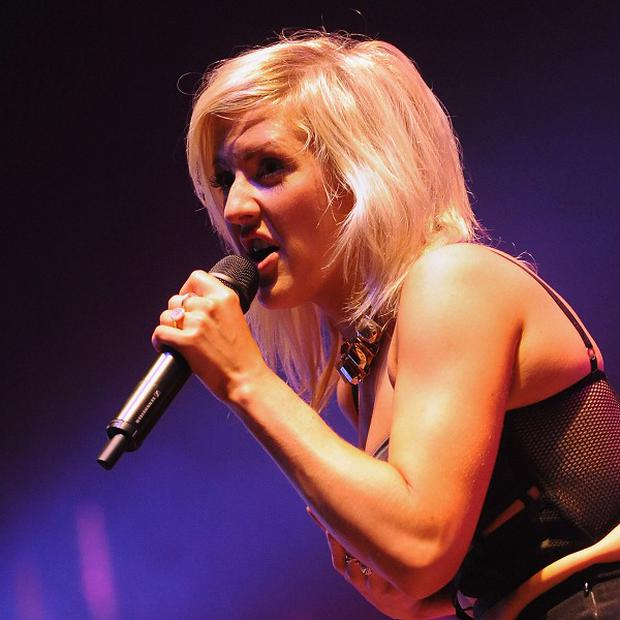 Ellie Goulding has scored her first ever UK number one single with Burn