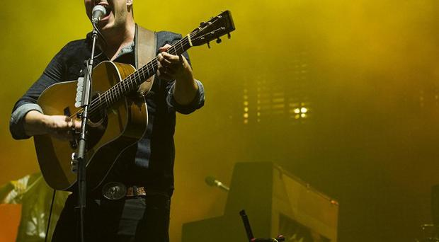 Mumford and Sons' Marcus Mumford at the West Side Tennis Club in Forest Hills (Charles Sykes/Invision/AP)