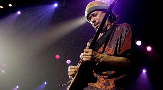 Carlos Santana was unharmed in a 'minor' crash in Las Vegas