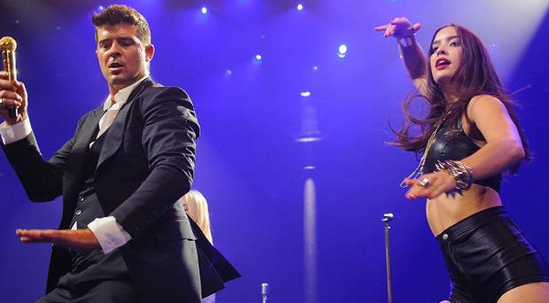 Robin Thicke performed at the iTunes Festival in London