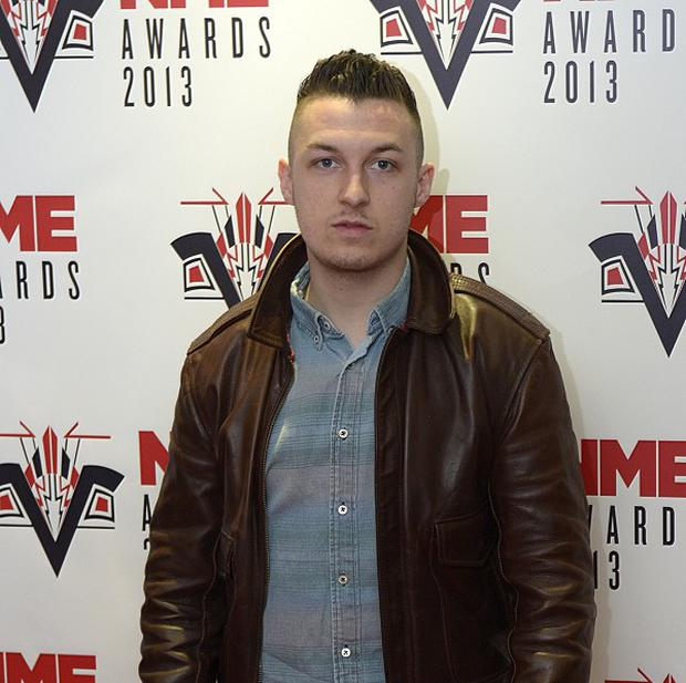 Matt Helders injured his hand when he struck a wall