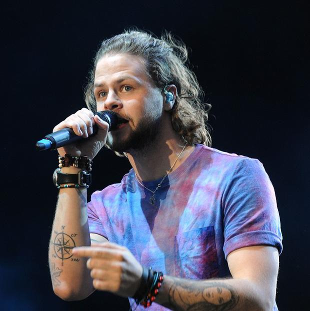 The Wanted's Jay McGuiness before he shaved off half his hair