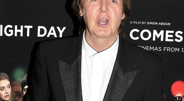 Sir Paul McCartney has been recording the video for new single Queenie Eye
