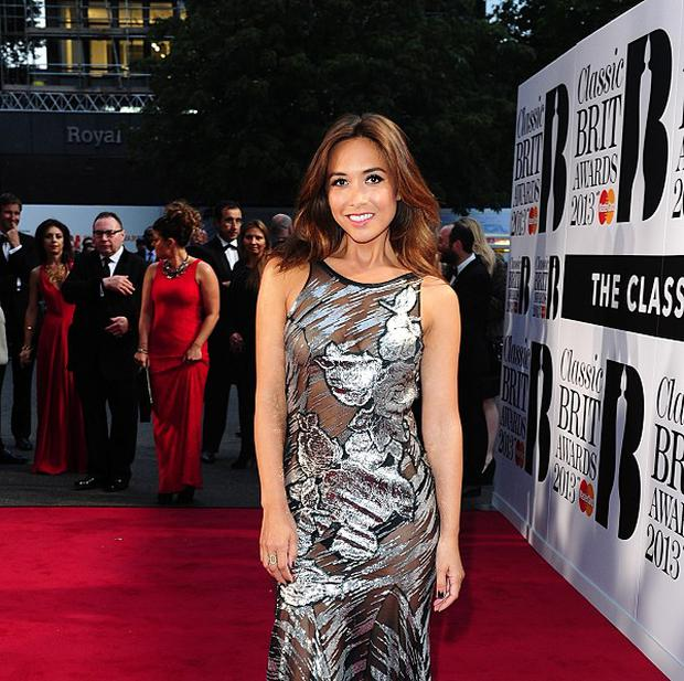 Myleene Klass wore a daring sheer frock on the Classic Brits red carpet