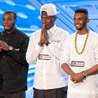 Rough Copy during the auditions for the ITV1 talent show, The X Factor.