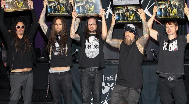 Korn are inducted into the RockWalk in Hollywood