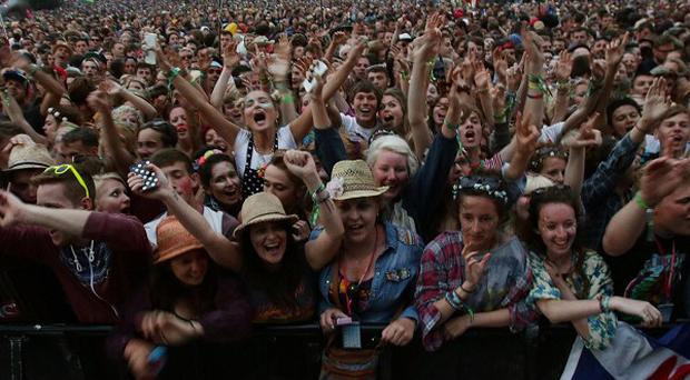 Tourists attending concerts and music festivals such as Glastonbury are boosting the UK economy