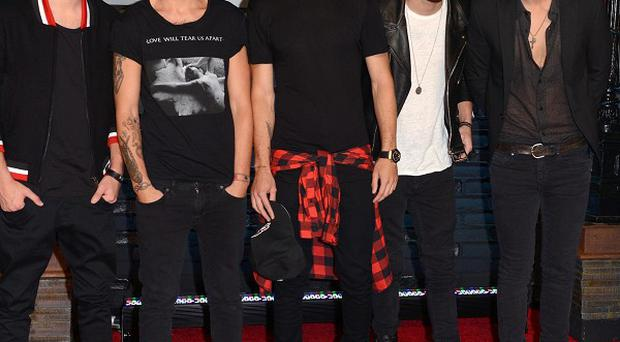 One Direction band members Niall Horan, Zayn Malik, Louis Tomlinson, Liam Payne and Harry Styles