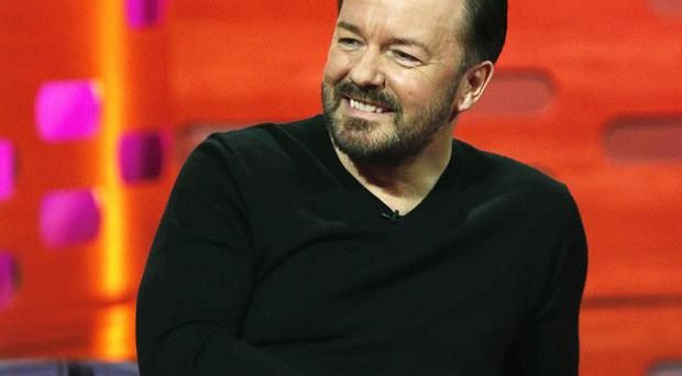 Ricky Gervais played a gig as David Brent with former Razorlight drummer Andy Burrows