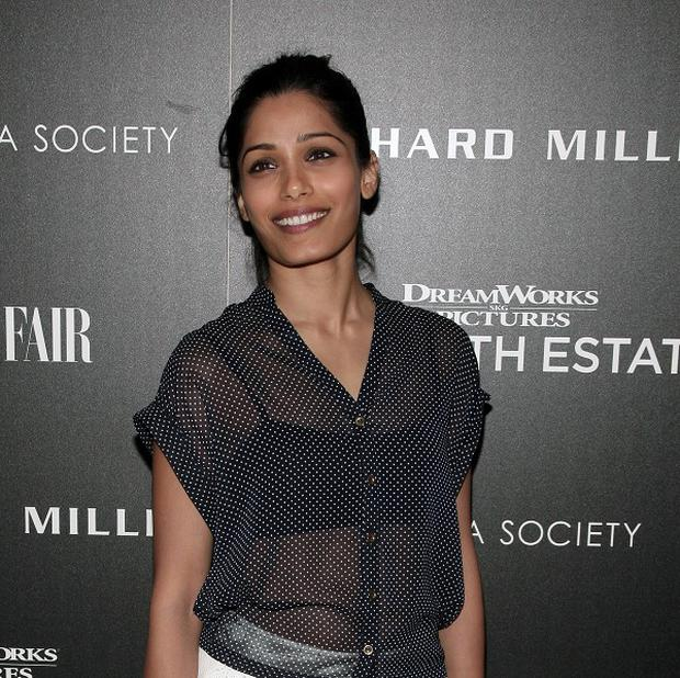 Freida Pinto stars in Bruno Mars' music video for Gorilla