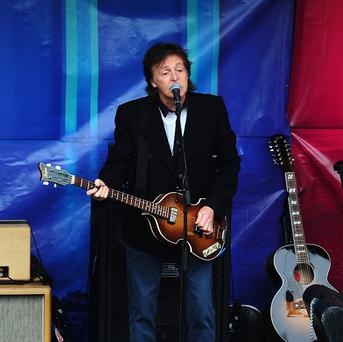 Sir Paul McCartney played a surprise gig in Covent Garden