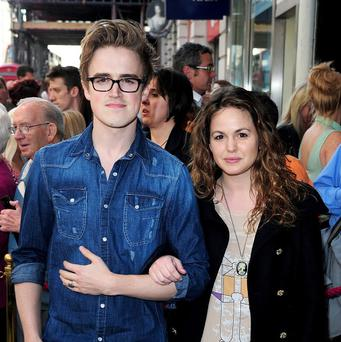 Tom Fletcher and his wife Giovanna announced their baby news in a video