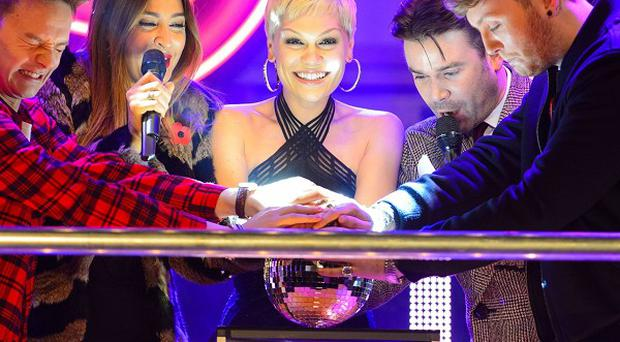 Jessie J at the Oxford Street switch-on in London