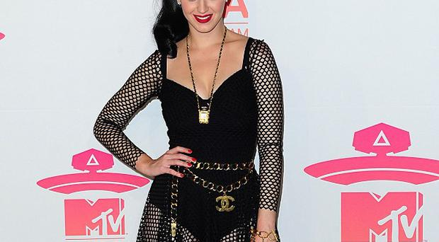 Katy Perry receives the award for Best Female at the 2013 MTV Europe Music Awards at the Ziggo Dome Amsterdam, Netherlands.