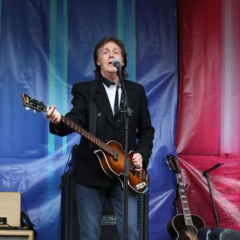 Sir Paul McCartney held a surprise bash for his wife