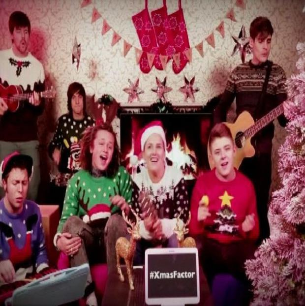 The X Factor finalists get festive