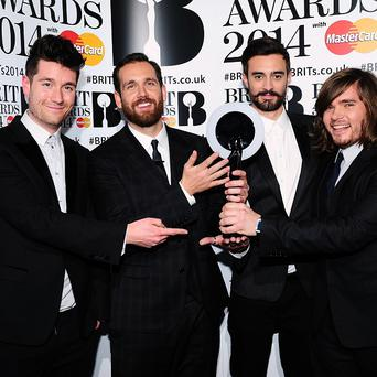 Bastille won best British breakthrough act at the Brits
