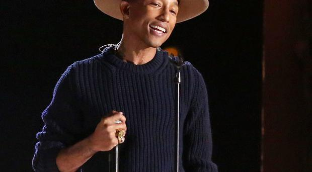 Pharrell Williams' hat has been sold in an auction