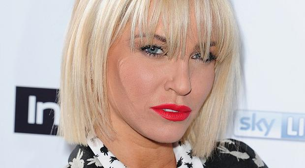 Sarah Harding performed at the Street Child party