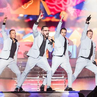Backstreet Boys show off their moves in Birmingham