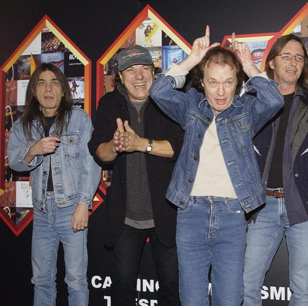 AC/DC's Malcolm Young (far left) is said to be too ill to perform