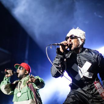 Big Boi and Andre 3000 of Outkast perform in Georgia
