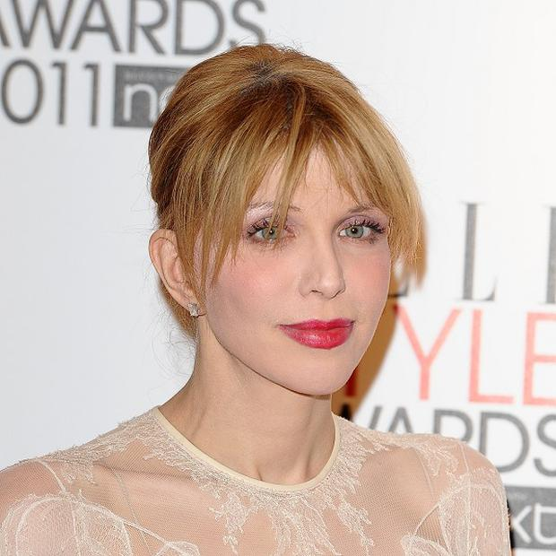 Courtney Love has not commented on the note said to be from her late husband Kurt Cobain