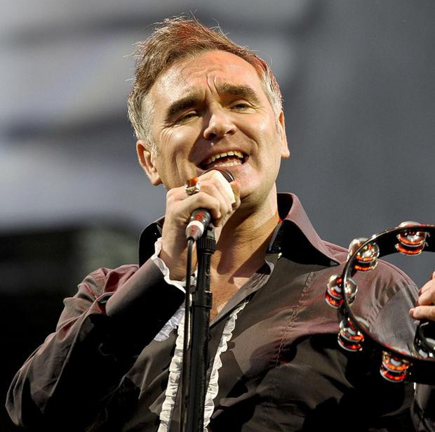 Morrissey was knocked over when a fan stormed the stage at a recent show