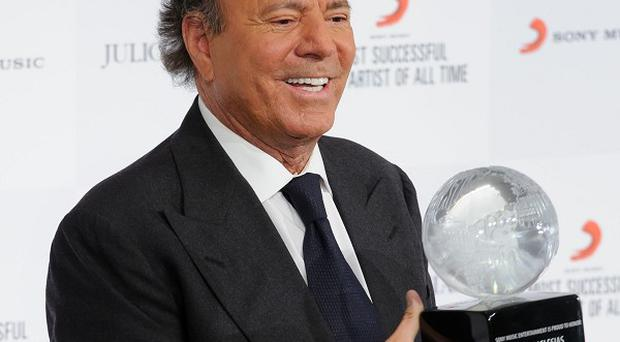 Spanish singer Julio Iglesias has been honoured for his musical career