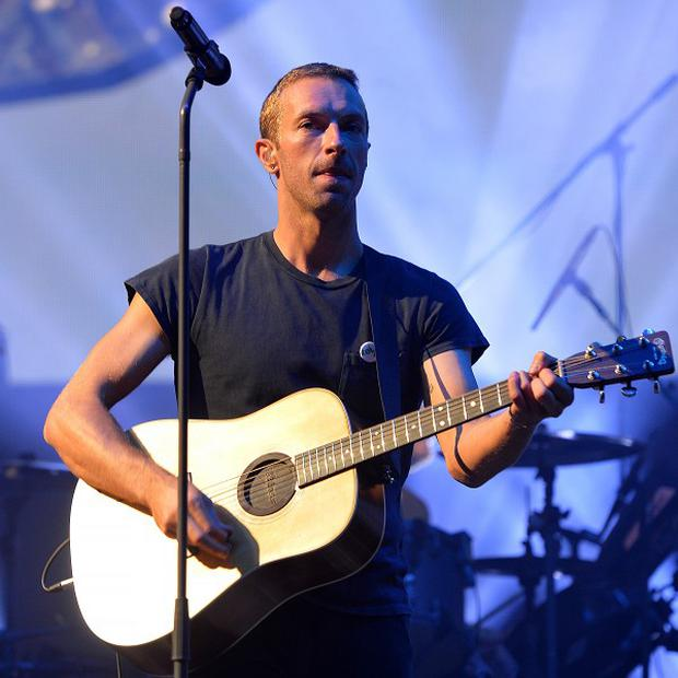 Coldplay's Chris Martin performs during Radio 1's Big Weekend at Glasgow Green, Glasgow