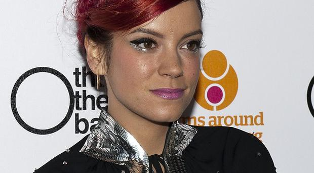 Lily Allen went for a rosy hair shade at the Other Ball fundraiser