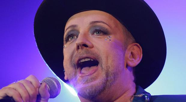 Boy George performing in the Big Top Stage at the Isle of Wight Festival, in Seaclose Park, Newport