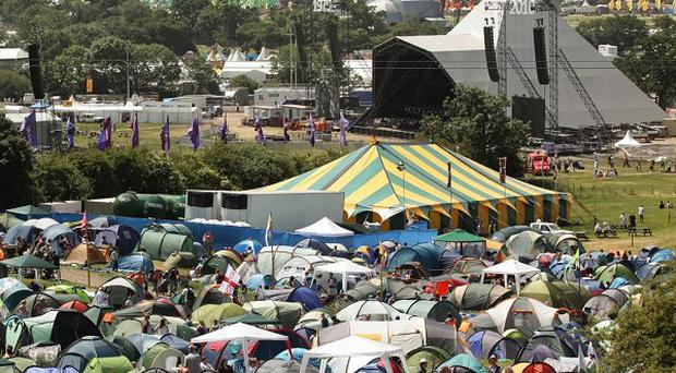 Glastonbury festival-goers could face a rainy weekend