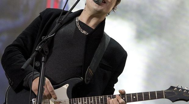 Pete Doherty of the Libertines performs at the Barclaycard British Summer Time Festival in Hyde Park