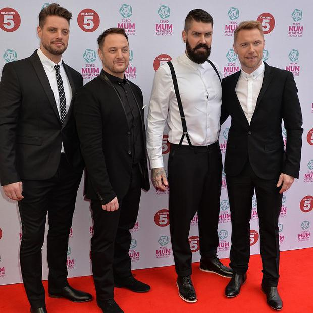 Boyzone played the main stage at Barclaycard British Summer Time's Family Day