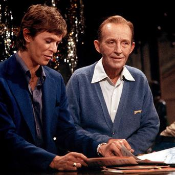 David Bowie and Bing Crosby duetted in 1977 (Rex)