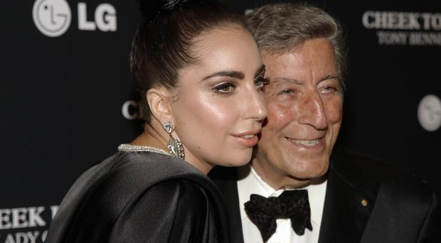 Lady Gaga and Tony Bennett at the Lincoln Centre in New York (Invision/AP)