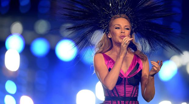 Kylie performs during the 2014 Commonwealth Games Closing Ceremony in Glasgow