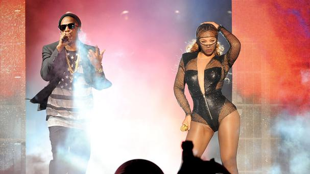 Beyonce and Jay Z's concert in Los Angeles
