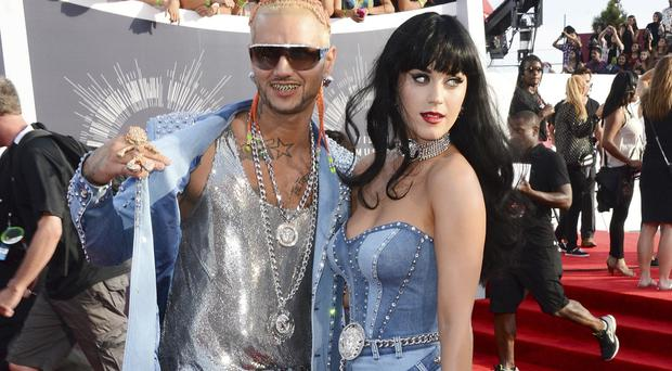 Riff Raff and Katy Perry arrive at the MTV Video Music Awards (Jordan Strauss/Invision/AP)