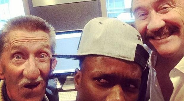 Tinchy Stryder is making music with the Chuckle Brothers (Tinchy Stryder/Instagram)