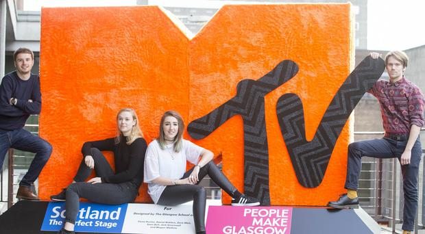 An MTV Europe Music Awards logo designed by students from Glasgow School of Art