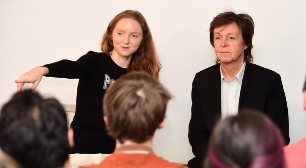 Sir Paul McCartney gives a talk for Lily Cole's Impossible organisation