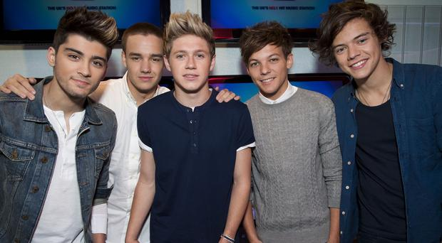 One Direction have had their music played more than one billion times on Spotify