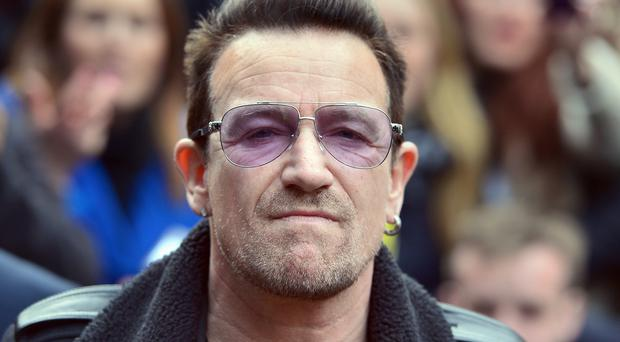 Bono was injured in a bike accident two weeks ago