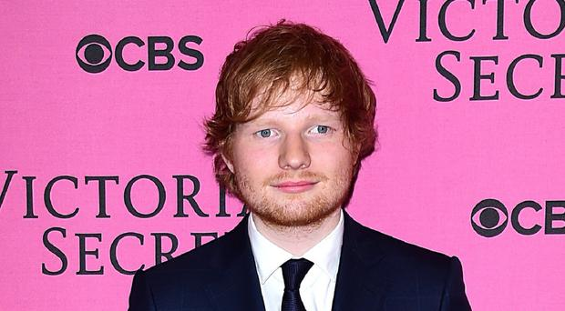 Ed Sheeran arriving for the Victoria's Secret Fashion Show