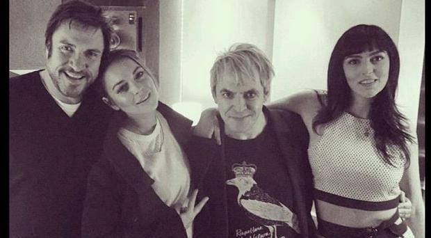 Duran Duran have been in the studio with Lindsay Lohan and her sister Aliana (Duran Duran/Twitter)
